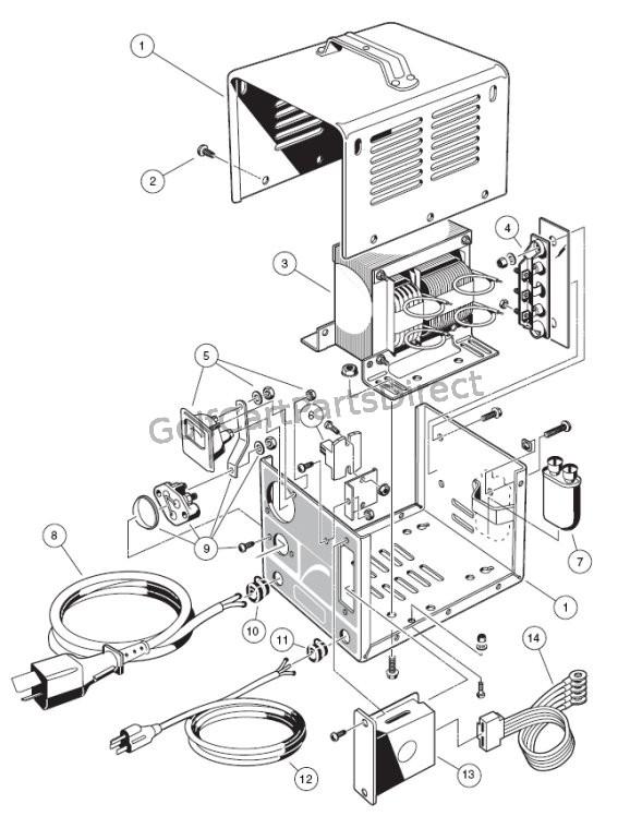 charger 48v club car wiring diagram