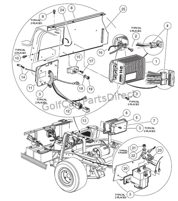 Club Car Wiring Diagram 48v W Obc