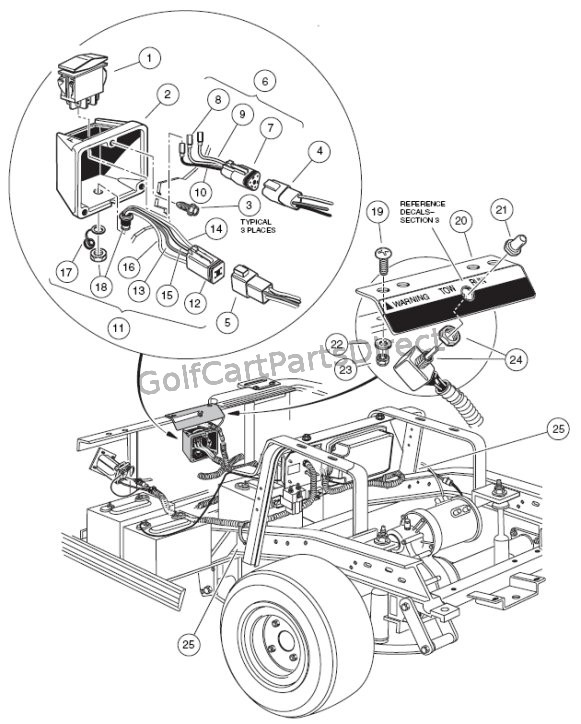 wiring diagram further golf cart starter generator wiring diagram