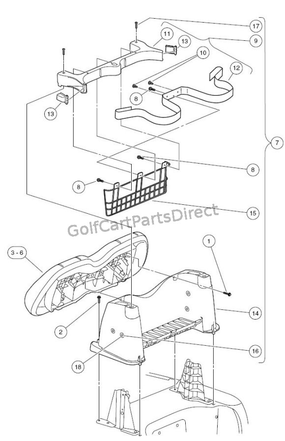club cart gas wiring diagram cat5 to hdmi 2004-2007 car precedent or electric - parts & accessories