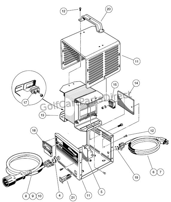 club car precedent 4 battery wiring diagram 2002 chevy avalanche parts 2004-2007 gas or electric - & accessories
