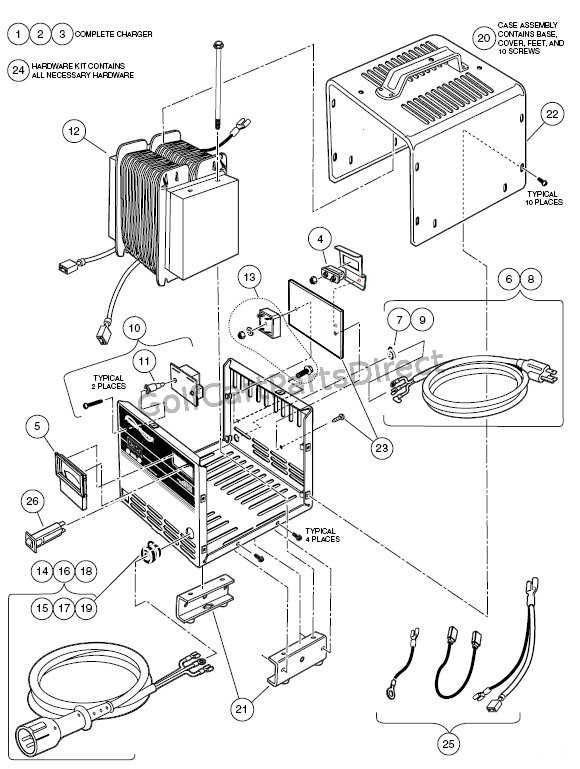 Club Car Powerdrive 2 Charger Wiring Diagram : 44 Wiring