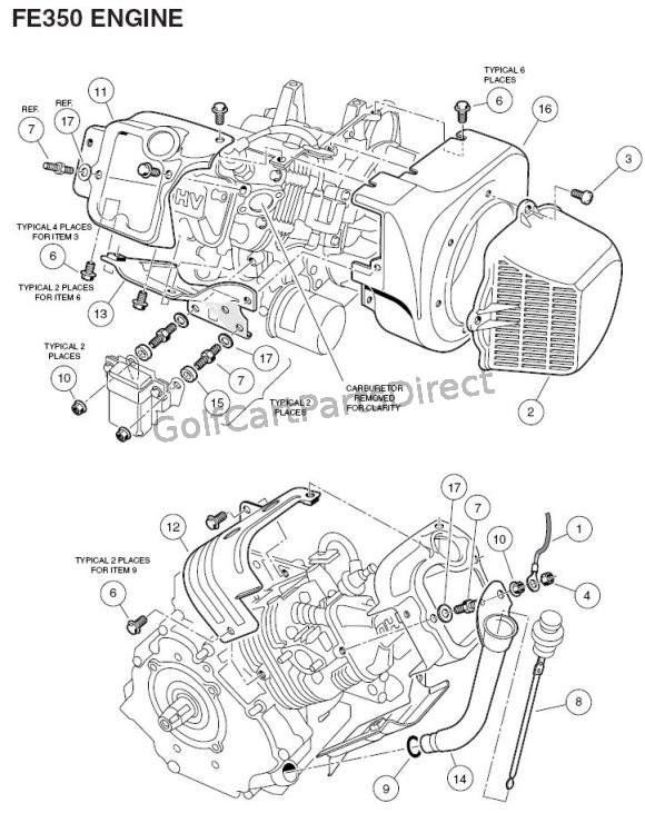 Club Car Fe 290 Kawasaki Engine Diagram Club Car Golf Cart