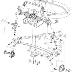 Golf Cart Starter Generator Wiring Diagram Pioneer Car Cd Player Front Suspension - Lower Club Parts & Accessories