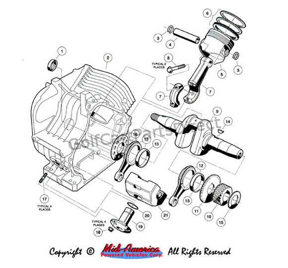 Engine Diagram For Ezgo 2 Cycle Golf Cart 1989, Engine