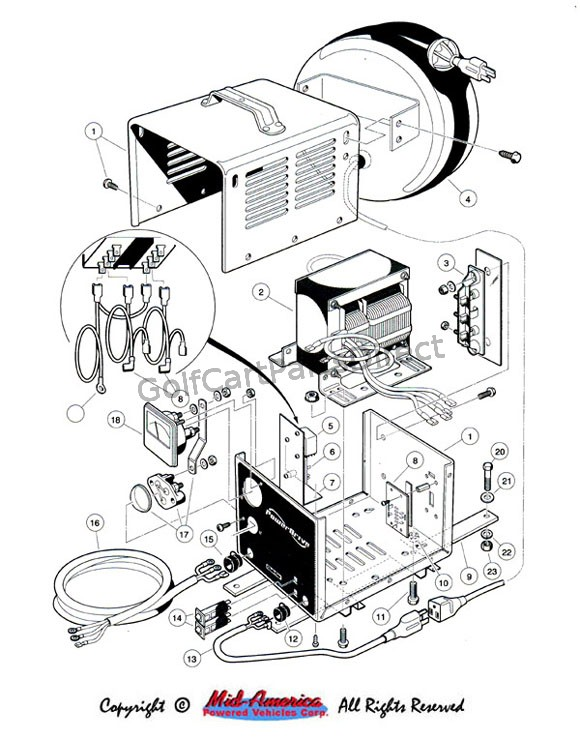 club cart battery wiring diagram 2005 chevy cobalt starter on-board charger - export car parts & accessories