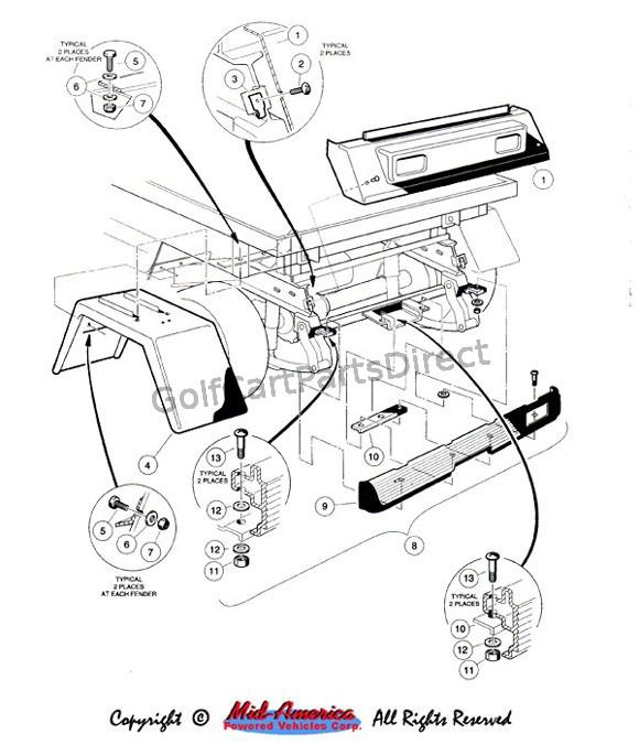 Carryall 272 Club Car Wiring Diagram Carryall 6 Wiring