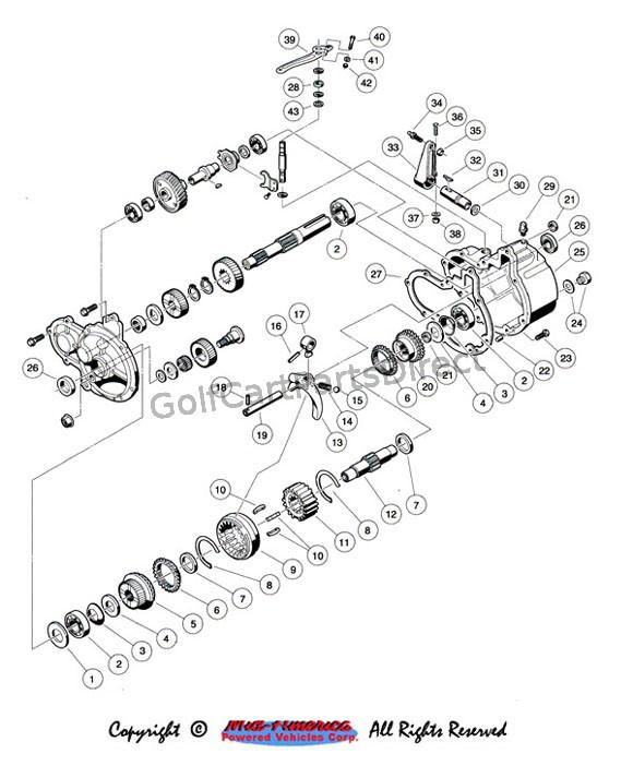 wiring diagram for 1996 gas club car golf cart galls wig wag flasher engine schematic 1992 carryall 1 2 u0026 6 by parts