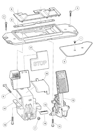 103974821  FIELD SERVICE PEDAL wANDO  Club Car parts & accessories