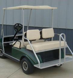 mm pk250ccb stationary rear seat club car ds w beige seats [ 1280 x 960 Pixel ]