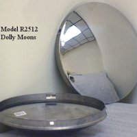 "PHOENIX R2512-x4, Set of 4 - 8"" Dia. Stainless Steel Baby Moon Hub Cap for Trailer, Dollies, Golf Cart, Lawn Mower, etc."