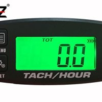 Tach Hour Meter tachometer RPM backlit display OZ-USA® motorcycle atv dirtbike buggy outboard mototcycle boat works with all gas powered engines