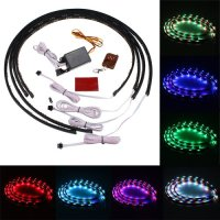 """IMAGE® 7 Color 4pcs LED Under Auto Car Underglow System Neon Lights Kit Strip With Wireless Remote Control 2 x 24"""" & 2 x 36"""""""