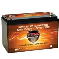 Vmaxtanks Vmaxslr125 AGM Deep Cycle 12v 125ah SLA rechargeable Battery for Use with Pv Solar Panels,Smart chargers wind Turbine and Inverters