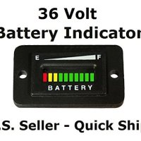 Automotive Authority LLC® 36V EZGO ClubCar Golf Cart Forklift ATV Battery Meter Gauge Indicator
