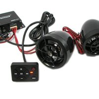 Performance Teknique ICBM-Cycle Motorcycle ATV Golf Cart Amp And Speaker System With USB SD FM Radio Remote Control