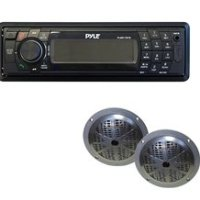 Golf Cart Pyle In-Dash AM/FM/MPX Bluetooth Digital Media Receiver & Speakers