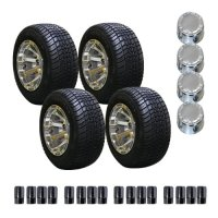 EZGO 750279PKG 18-Inch Pro Tour Tire and 10-Inch Diamond Alloy Wheel Package