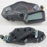 Reddragonfly - LCD Digital Speedometer Tachometer Odometer Oil Pressure Light EFI Engineer Motorcycle Scooter