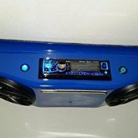 "BLUE UTV RADIO GOLF CART OVERHEAD STEREO CONSOLE WITH 6.5"" SPEAKERS BLUETOOTH"