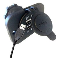 USB Power DS2113 Dual USB Charger Socket (Black)