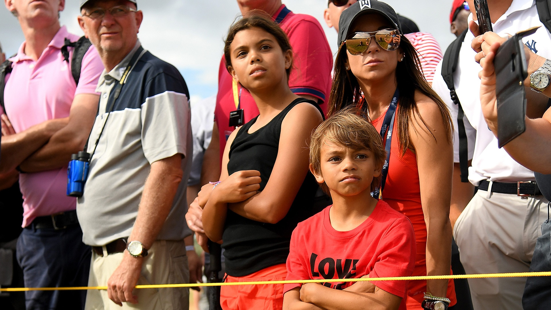 photos of tiger woods children at carnoustie 2018 today show