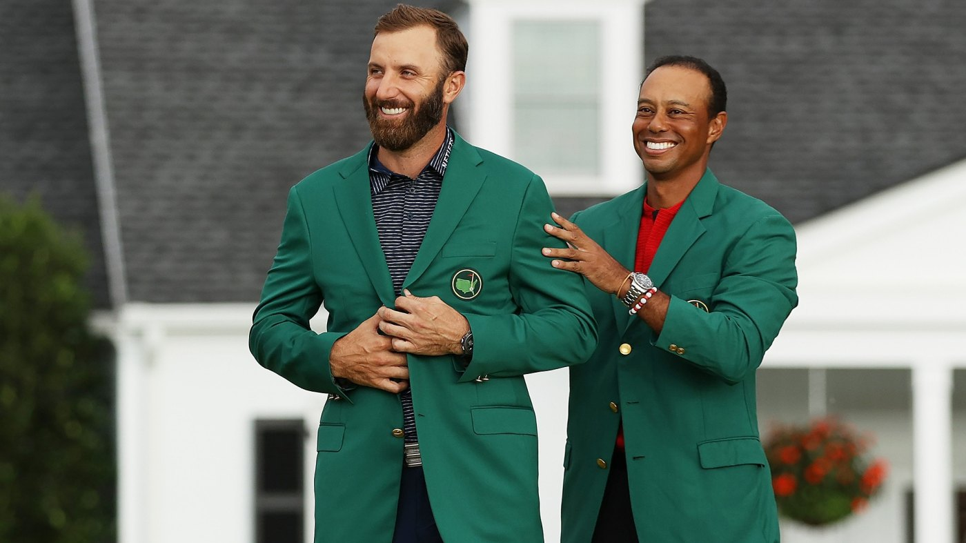 Tiger presentation cool, no patrons a bummer, but Dustin Johnson just happy  to win 2020 Masters | Golf Channel