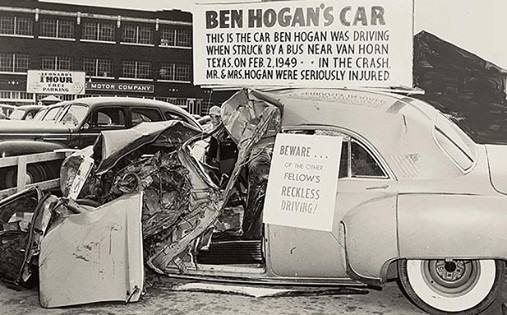 On this day, In 1949 Ben Hogan & wife Valerie survive a near