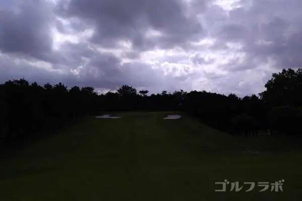 沼津ゴルフクラブの伊豆6ホールの2打目