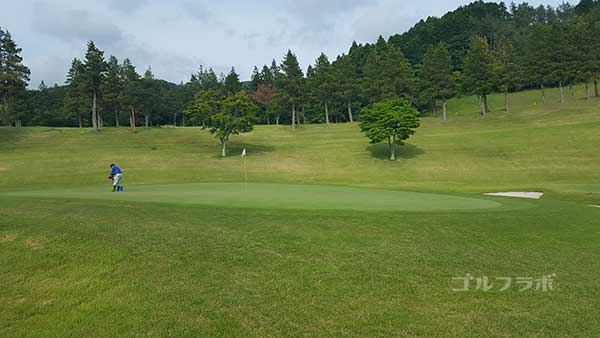 レンブラントゴルフ倶楽部御殿場の駿河コース9番ホールのグリーン