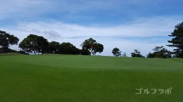 凾南ゴルフ倶楽部の11番ホールのグリーン