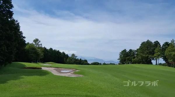 凾南ゴルフ倶楽部の17番ホールのレディースティ
