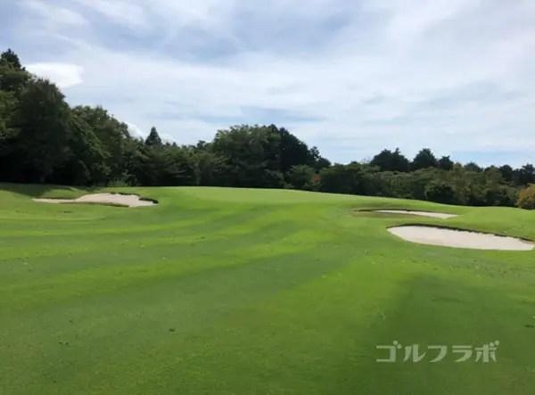 凾南ゴルフ倶楽部の2番ホールのグリーン