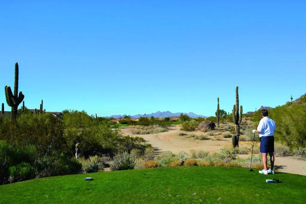 golfurlaub in arizona abschlag in der