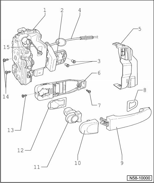 Revue Technique Automobile Volkswagen Golf 5: Poignée et