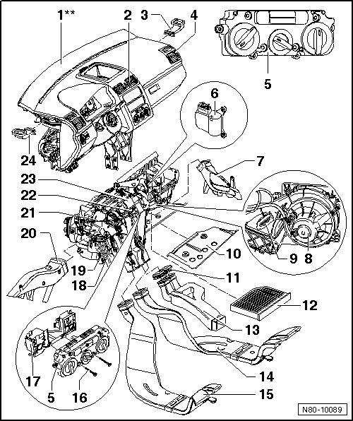 Revue Technique Automobile Volkswagen Golf 5: Chauffage