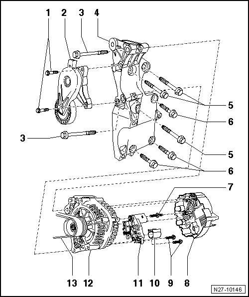 Revue Technique Automobile Volkswagen Golf 5: Alternateur