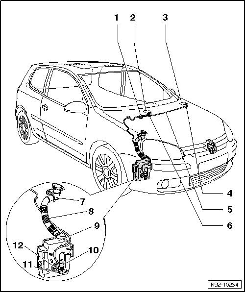 Revue Technique Automobile Volkswagen Golf 5: Lave-glace