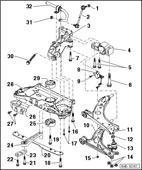 Revue Technique Automobile Volkswagen Golf 5: Berceau