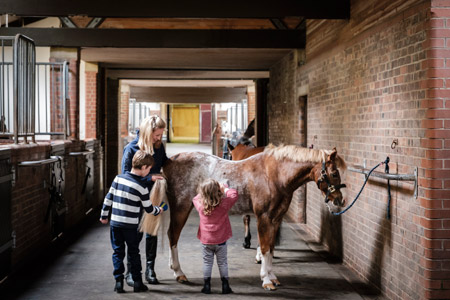 Kids at the Gleneagles Equestrian Centre