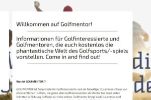 Screenshot Homepage Golfmentor
