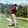 conseils de golf sur la position à l'adresse