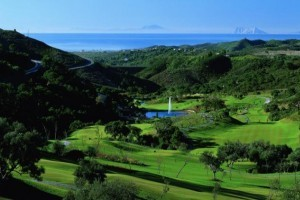 accommodation.MCGOLF- view of Africa,Gib and fountain827