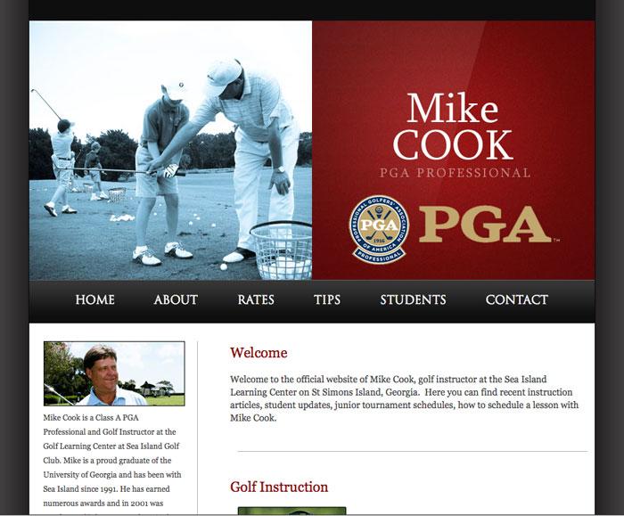 Mike Cook Pga Very Professional Golf Course Web Design Pga