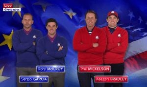 Match 4: McIlroy & Garcia vs Mickelson & Bradley