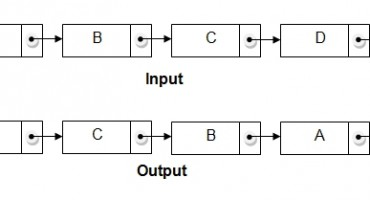 reverse linked list in place