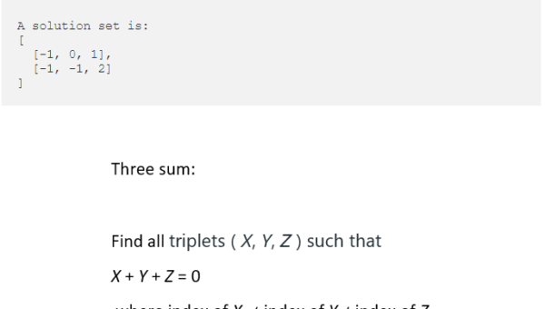 Find all triplets with sum zero in an array