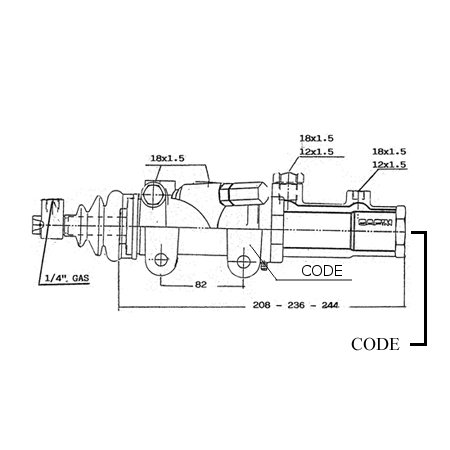 Bendini Power Master Brake Cylinders