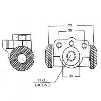 Forklift Brake Cylinder Pump S864