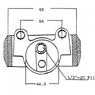 Climax Coventry Brake Cylinders Parts